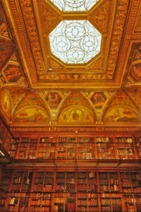 The ornate Morgan Library interior
