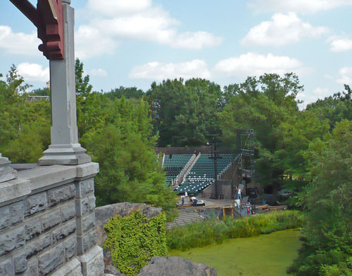 View of the Delacorte Theater from Belvedere Castle